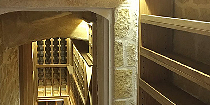 Small Damp Space transformed into Underground Wine Cellar, Design and Build