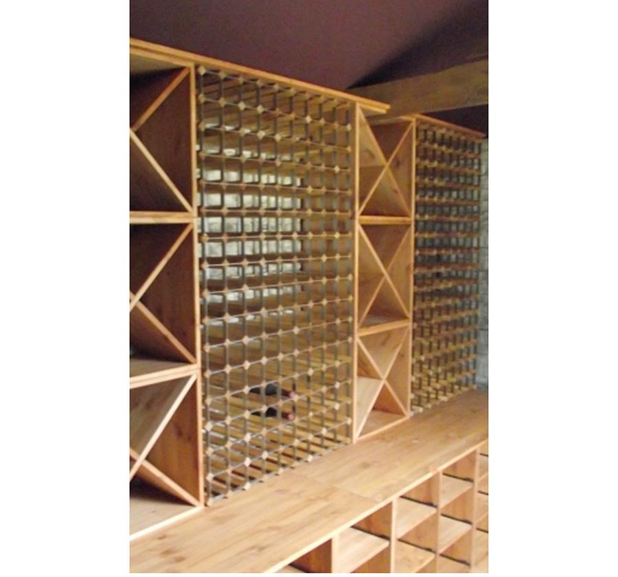 Bespoke Wine Racking in Pine Stained Light Oak