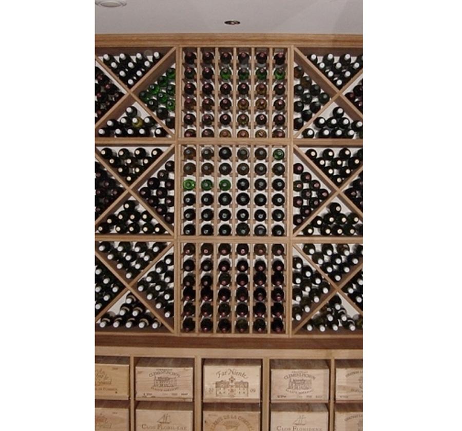 Bespoke Wine Racking in Solid Oak