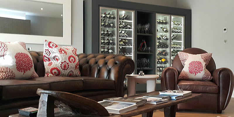 Designing an attractive wine storage space