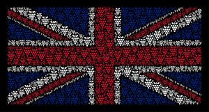 Great Britain Flag composed of Grapes