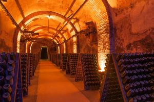 Champagne House with wine Cellars